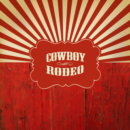Photo pour Wild West Rodeo Background On Red Wooden Fence - image libre de droit
