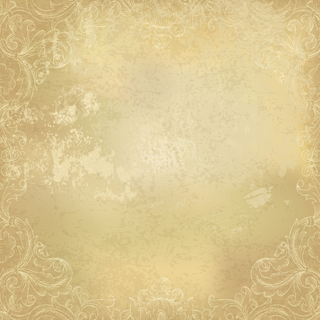 Foto de Aged vintage ornamental old paper background. Vector illustration - Imagen libre de derechos