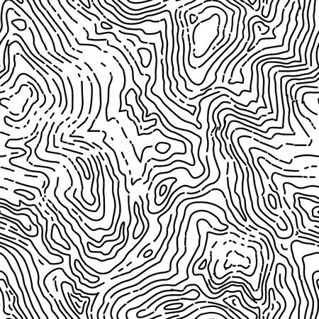 Illustration pour Seamless topographic contour map pattern. - image libre de droit