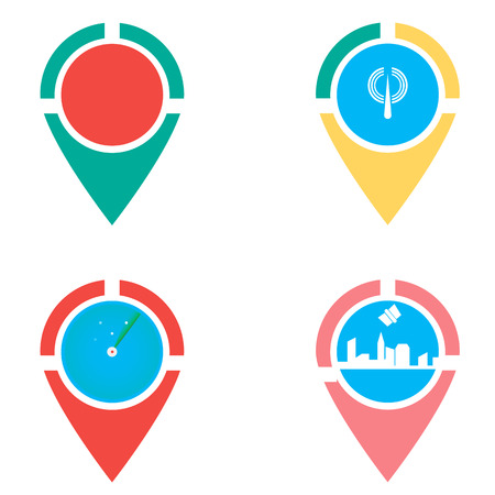 Icons set of locations. checkpoint. locator design vector template. Gps icon design vector. Simple clean design Gps locator vector icon.