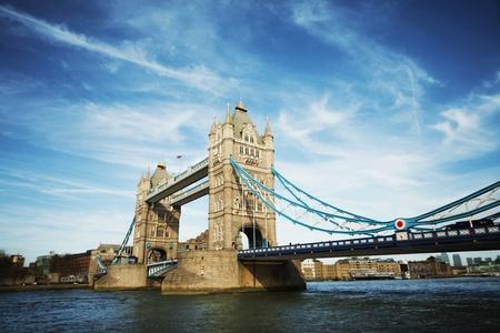 tower bridge of London on sunny day