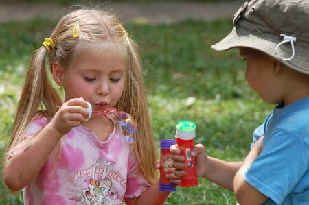 Kids with soap-bubble 3