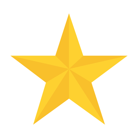 Illustration for yellow star in flat style white background vector - Royalty Free Image