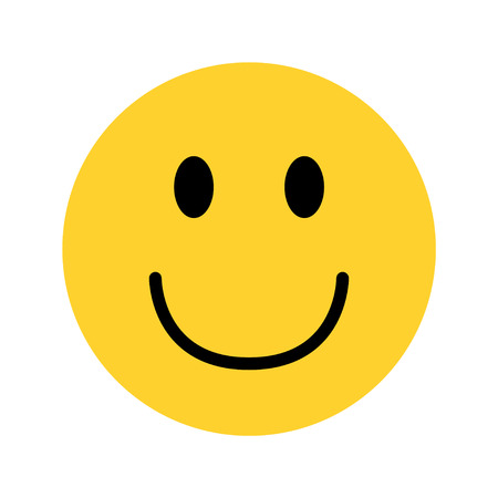 Illustration for smiley yellow face emoji on white background vector - Royalty Free Image