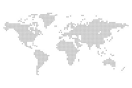 Illustration pour world map dots isolated modern design vector illustration - image libre de droit