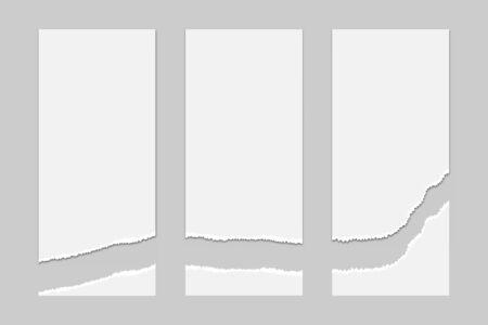 Illustration pour torn paper page mock up background vector illustration - image libre de droit