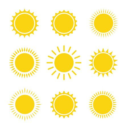 Illustration pour sun icon set summer graphic symbol vector illustration - image libre de droit