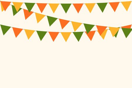 Illustration for party carnival bunting garland flag background vector illustration - Royalty Free Image