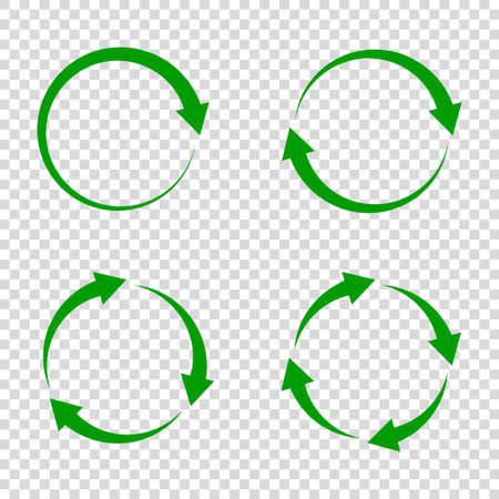 Illustration pour recycle arrow icon vector illustration white background. reuse symbol. eco lifecycle. green cycle round set. bio emblem. - image libre de droit