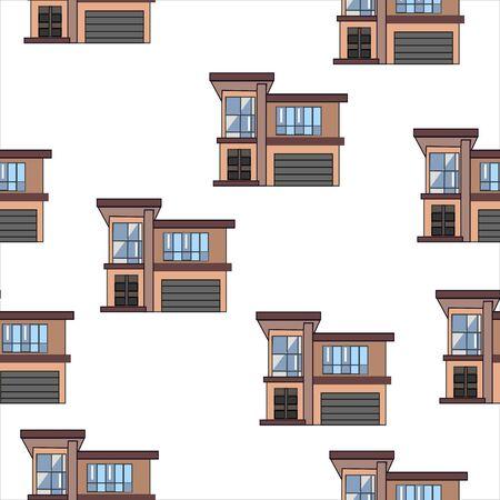 Illustration for Set of Modern houses. vector Illustration - Royalty Free Image