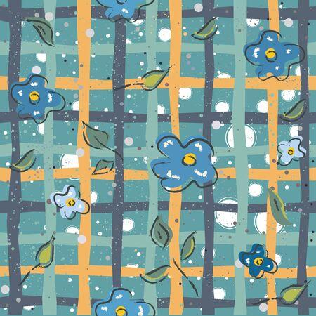 Illustration pour Floral Seamless Pattern. For backgrounds, wallpapers, fabric, prints, textiles, wrapping, cards, swatches, t-shirts, scrapbooks, blankets, pillows, etc. Unique Delicate Design. Vector Illustration. - image libre de droit