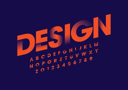 Illustration pour Vector of modern bold font and alphabet - image libre de droit