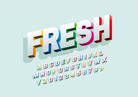 Illustration pour Vector of stylized modern font and alphabet - image libre de droit
