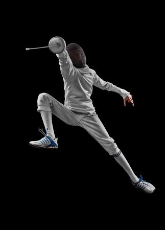 Foto für male fencer in action - Lizenzfreies Bild