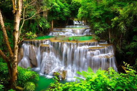 Huay Mae Kamin Thailand waterfall in Kanjanaburi