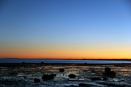 Sunset on the sea patagnico