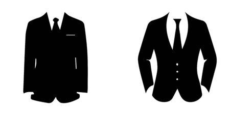 Illustration pour The business suit icon - image libre de droit