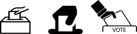 Illustration pour vote icon on white background - image libre de droit