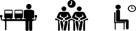 Illustration pour waiting icon on white background - image libre de droit