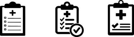 Ilustración de Medical clipboard icon on background - Imagen libre de derechos