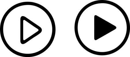 Ilustración de play video icon on white background - Imagen libre de derechos