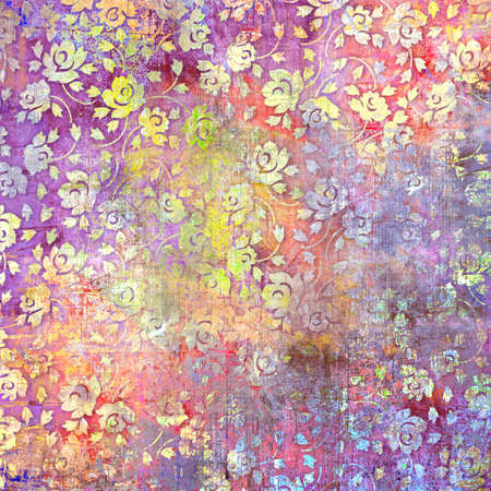 Photo for vintage texture background,art design,flower pattern background - Royalty Free Image