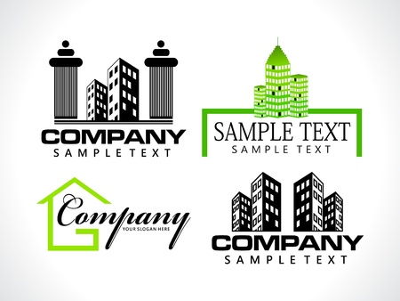 abstract corporate icon template vector illustration