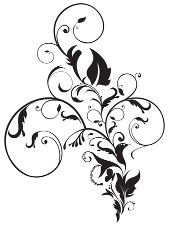 abstract artistic floral vector illustration