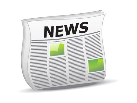 abstract shiny news icon vector illustration