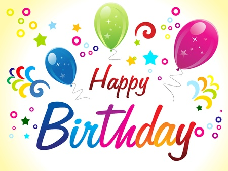 Abstract Birthday Card With Text Vector Illustration