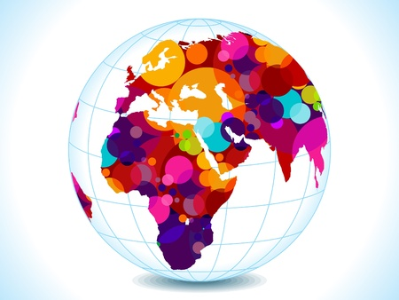 abstract colorful circles globe vector illustration