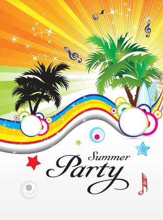abstract summer party theme vector illustration