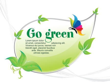 abstract go green background vector illustration
