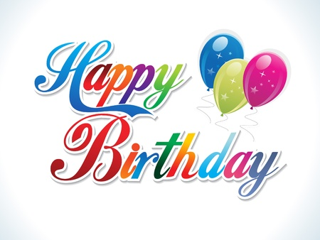Illustration pour abstract colorful birthday template vector illustration - image libre de droit