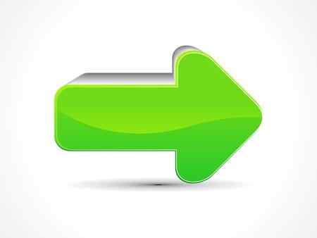 abstract green shiny arrow icon illustration