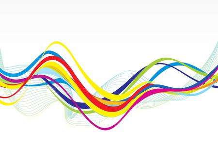 Illustration pour abstract colorful line wave background vector illustration - image libre de droit
