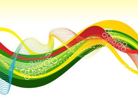 Illustration pour abstract artistic colorful line wave background vector illustration - image libre de droit