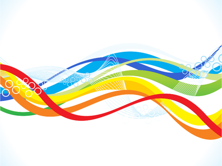 Foto de abstract artistic colorful wave background vector illustration - Imagen libre de derechos
