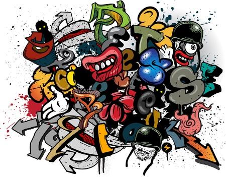 Graffiti elements explosion