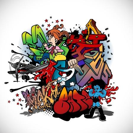 Graffiti, urban art