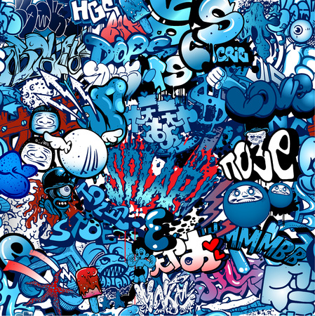 Dope Blue Graffiti