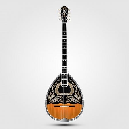 realistic greek folk musical instrument on clean background