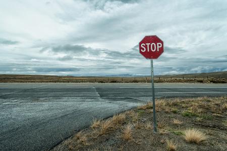 Photo pour Street Sign, Road Somewhere in Colorado, USA - image libre de droit