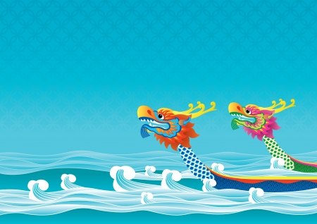 Dragon boat competition is one traditional ceremonies for Tuen Ng Festival