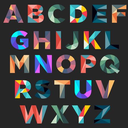 Illustration pour Colorful low poly typography - image libre de droit