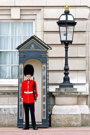 Buckingham Palace guard on duty