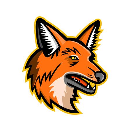 Illustration pour Sports mascot icon of a maned wolf - image libre de droit