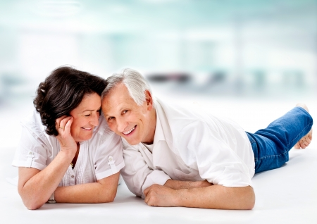 attracitve senior couple having fun together