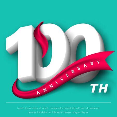 Anniversary emblems 100 anniversary template design