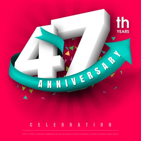 Anniversary emblems 47 anniversary template design